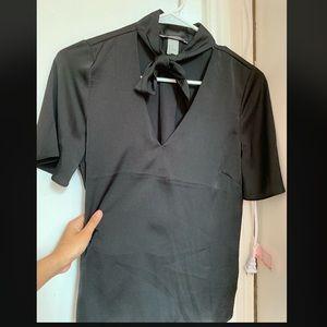 Black formal top.